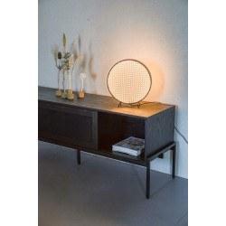 Lampe de table Sien en rotin et bois - Zuiver