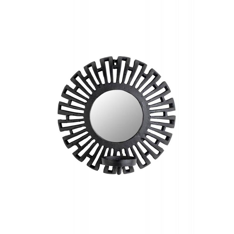 Petit miroir déco porte bougie style aztèque