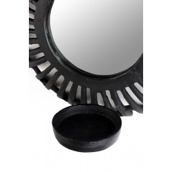 Petit miroir déco bougeoir style aztèque