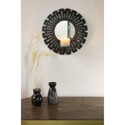 miroir porte bougie azteque