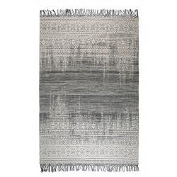 Tapis LIV 170 x 240 cm en laine fait main bleu mer