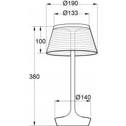 Dimension lampe à poser la petite lampe Aluminor