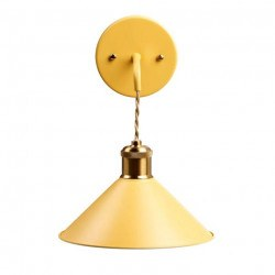 Applique BELL APP jaune en métal - Aluminor