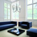 Grande suspension design Loewe 5 Lampes