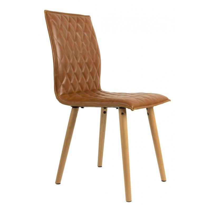 Chaises design Andy smilir cuir et bois