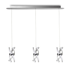 Suspension design Espirales 3 Lampes en ligne