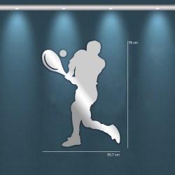 Miroir design joueur de Tennis