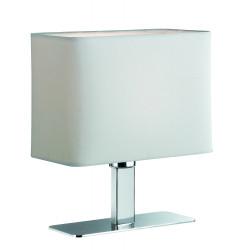 Lampe de table chromée abat jour tissus MING