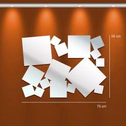 Miroir design carrés multiples - design deco