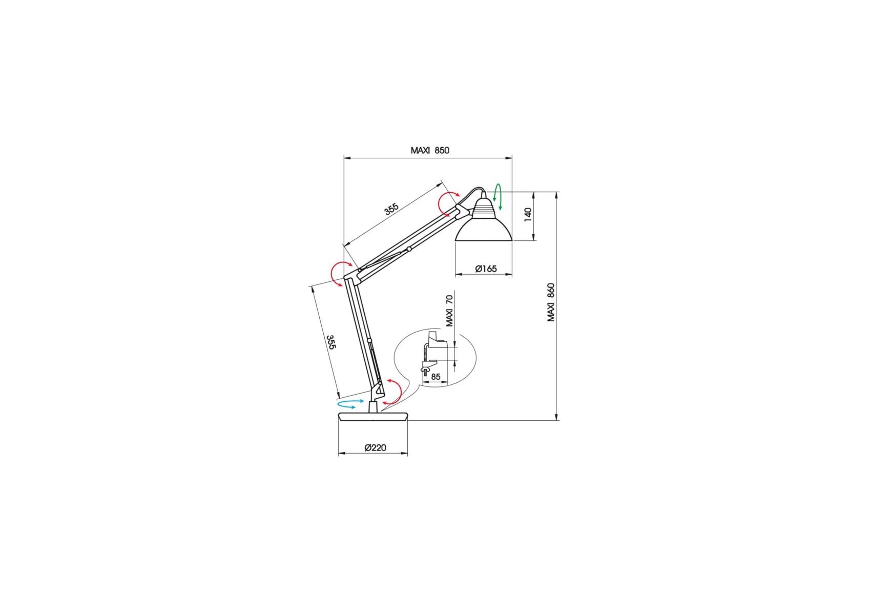 Grande Poser Ld95 Aluminor À Lampe Architecte Articulée rxsBtQhCd