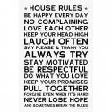 Sticker papier 45-30 cm House Rules
