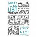 Sticker papier 45-30 cm Family To Do List