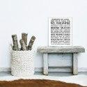 Sticker papier 60-40 cm Normas de Casa