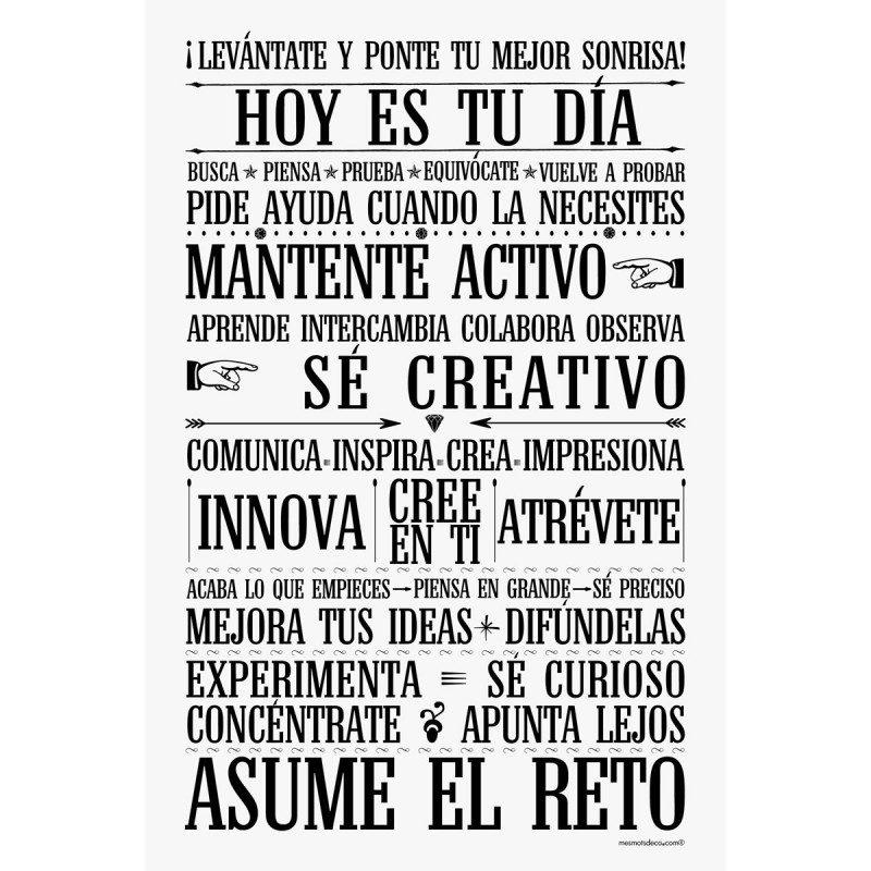 Sticker papier 60-40 cm Asume El Reto