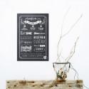 Sticker papier Manifeste de la Famille - Chalkboard - 45-30 cm