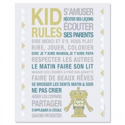 Poster à encadrer Kid Rules - Robot -  40-50 cm