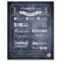 Poster à encadrer Manifeste de la Famille - Chalkboard - 40-50 cm