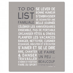 Poster à encadrer To Do List - Gris - 40-50 cm