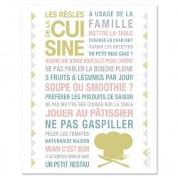 Poster à encadrer Kitchen - Blanc - 40-50 cm