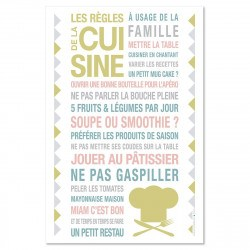 Sticker papier Kitchen - Blanc - 45-30 cm