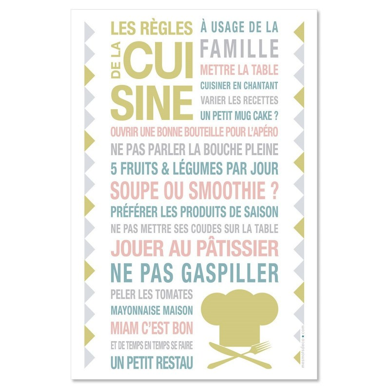 Sticker papier Kitchen - Blanc - 40-60 cm