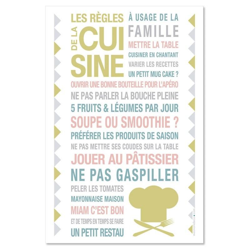 Sticker papier Kitchen - Blanc - 40-60 cm