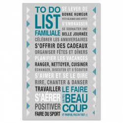 Sticker papier  To Do List - Gris carbone - 60-40 cm