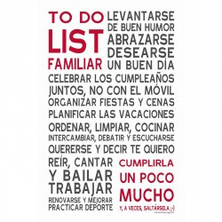 Sticker papier 60-40 cm To Do List Familiar