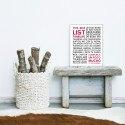 Sticker papier 60-40 cm To Do List Familiar