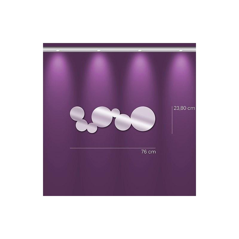 Miroir design bulles allongée