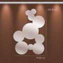 Miroir bulles fresque ronde en acrylique