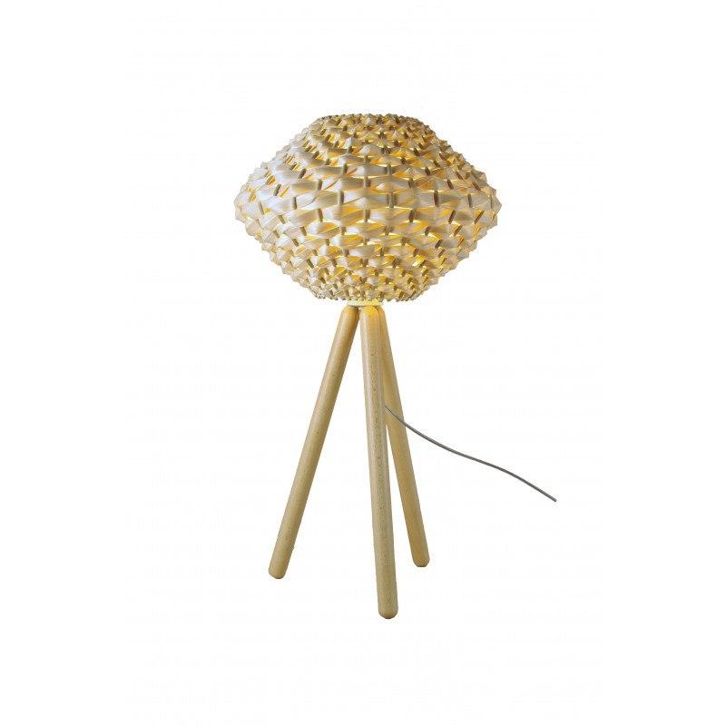 Lampe design Triolo lt en bois et bambou naturel