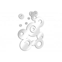 Miroir déco bulles fresque ronde avec détails en acrylique