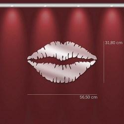 Miroir baisé rouge à lèvres en acrylique
