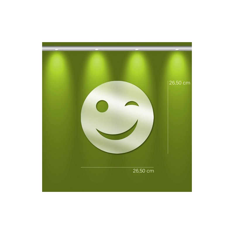 Miroir smiley design deco