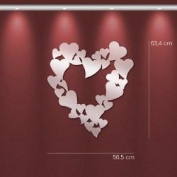 Miroir design Coeur multiples