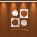 Miroir design rond et carré imbriqué