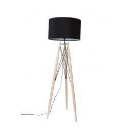 Lampadaire design EIFFEL trepied en bois et metal - Boite à design