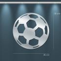Miroir déco ballon football en acrylique