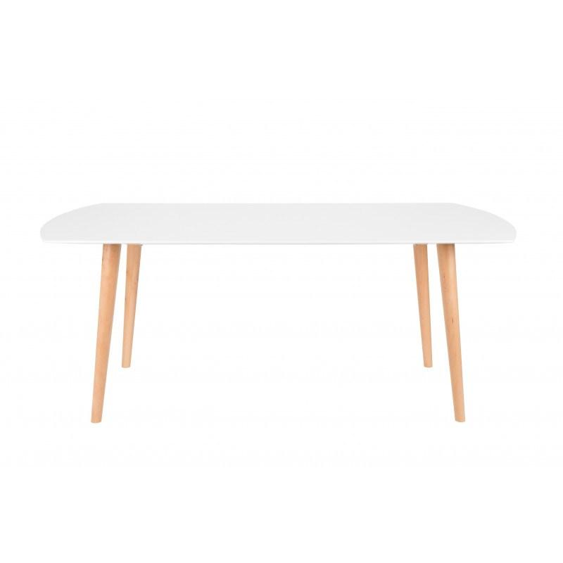 Table de repas - TABLE SION hêtre massif et MDF - deco scandinave