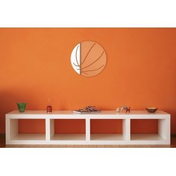 Miroir ballon de basket design en acrylique