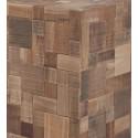 Table basse ou d'appoint mosaic bois d'acacia et teck