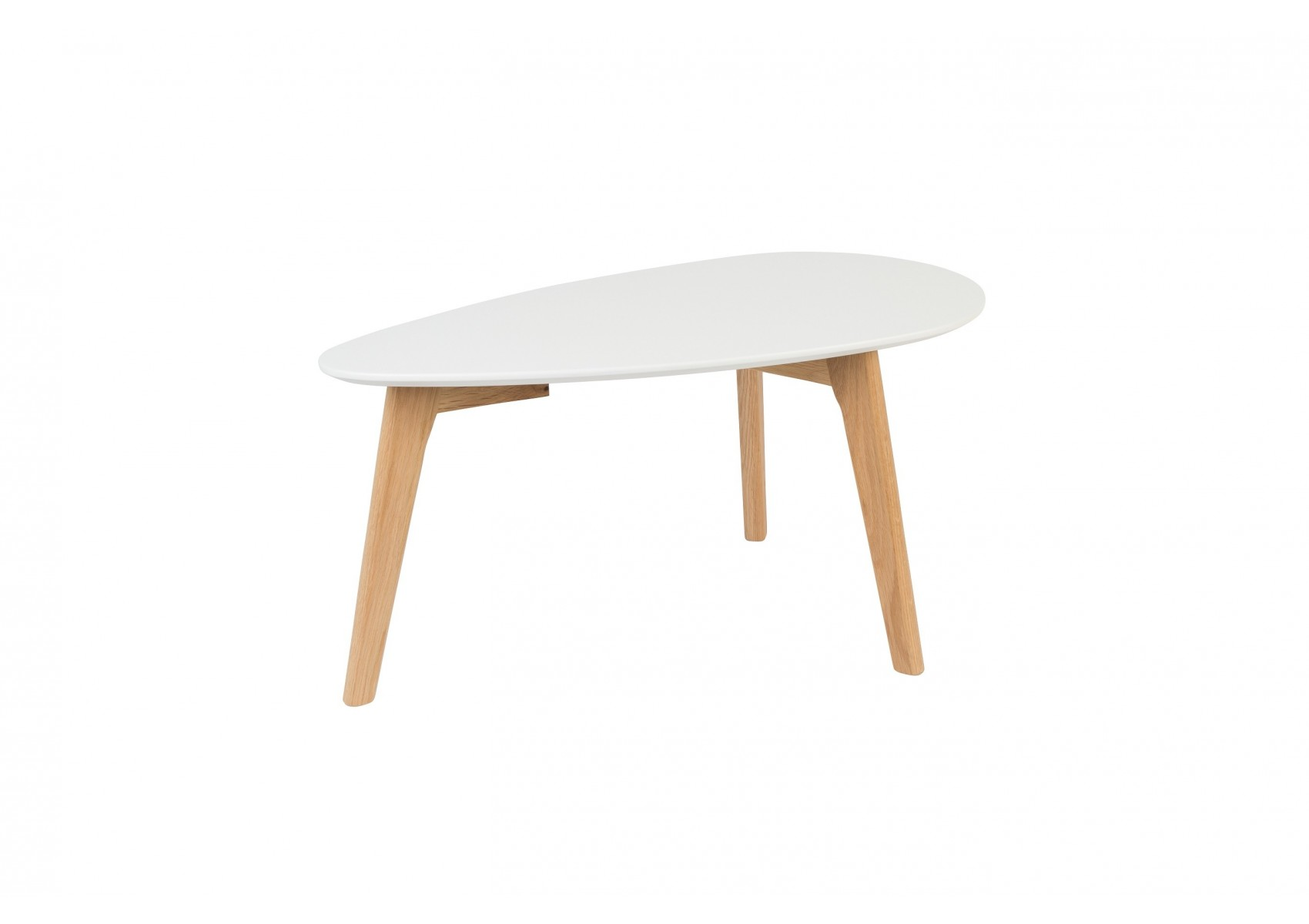 tables basse scandinave Drop laquée blanche