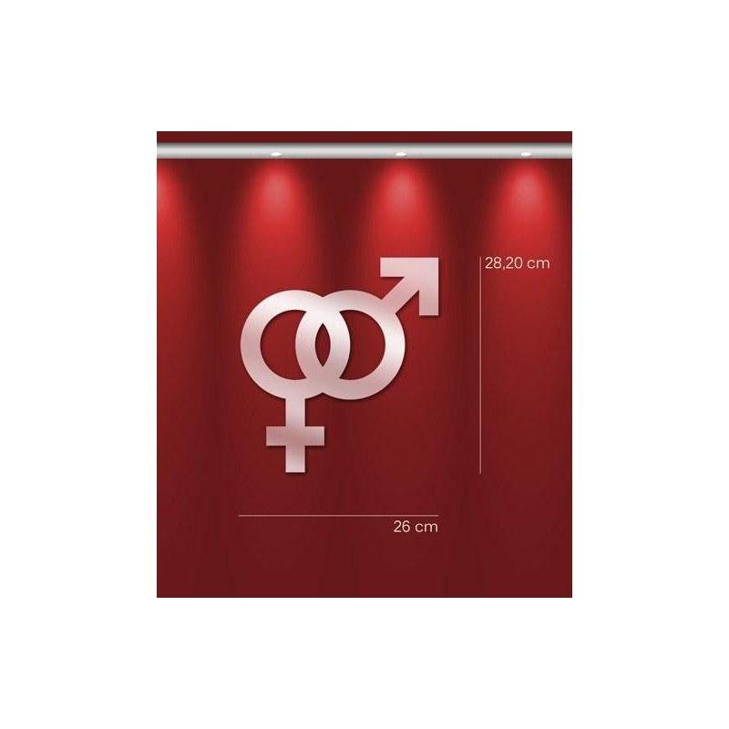 Miroir design homme femme en acrylique