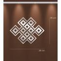 Miroir design symbole bouddhiste en acrylique
