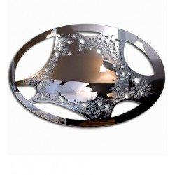 Miroir oval design- Lady Blob
