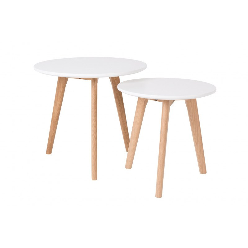 Tables basses scandinave BODINE - set de 2