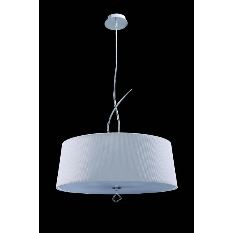 Suspension Mara blanche ronde 4L design mantra