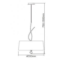 Suspension Mara blanche ronde 4L design mantra