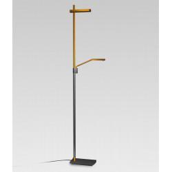 Lampadaire design PHUKET avec liseuse éclairage led orientable